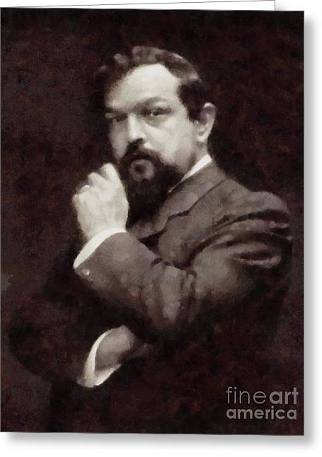 Claude Debussy, Composer By Sarah Kirk Greeting Card