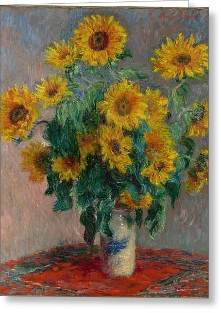 Claude Monet - Bouquet Of Sunflowers - 1881.. Greeting Card