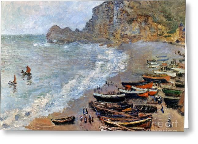 Claude Monet: Etretat, 1883 Greeting Card by Granger