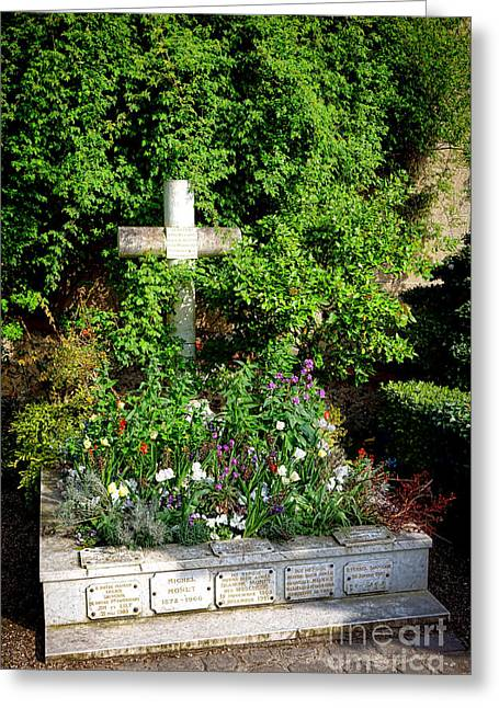 Claude Monet Grave In Giverny Greeting Card by Olivier Le Queinec