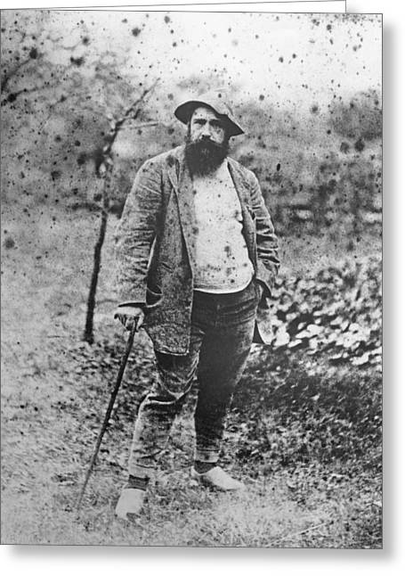 Claude Monet In His Garden Greeting Card