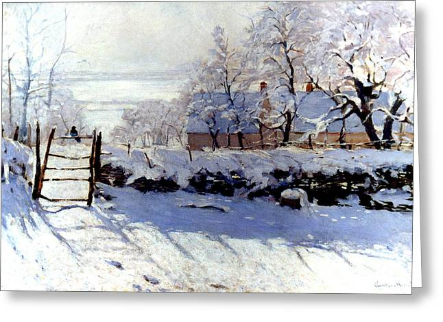 Claude Monet: The Magpie Greeting Card