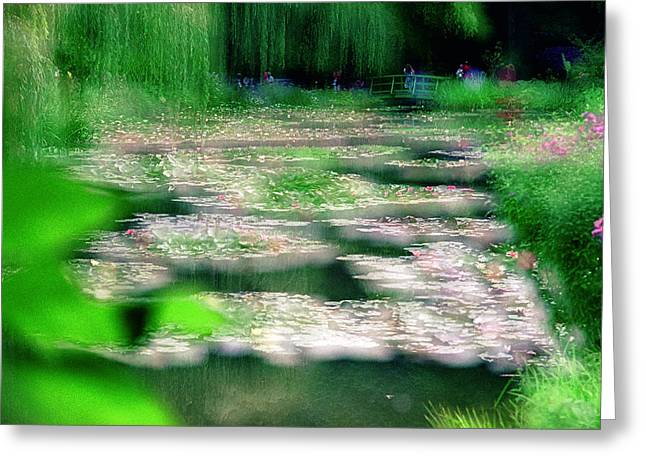 Greeting Card featuring the photograph Claude Monets Water Garden Giverny 1 by Dubi Roman