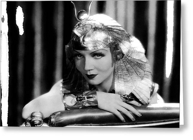 Claudette Colbert Publicity Photo As Cleopatra In Cleopatra 1934 Color Added 2015 Greeting Card by David Lee Guss