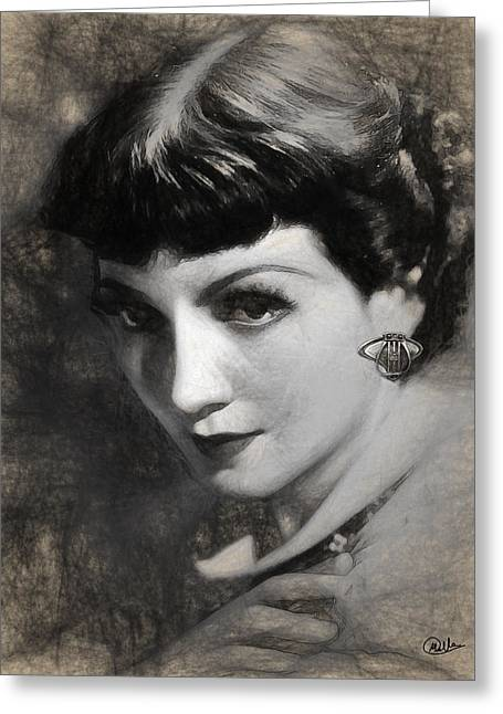 Claudette Colbert Greeting Card