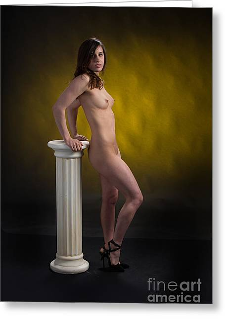 Claudia Nude Fine Art Print In Sensual Sexy Color 4871.02 Greeting Card