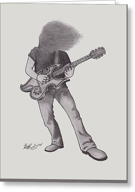 Claudio Sanchez Greeting Card by Keith Granger