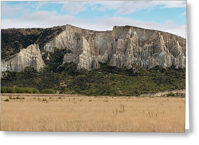Greeting Card featuring the photograph Clay Cliffs Omarama by Gary Eason