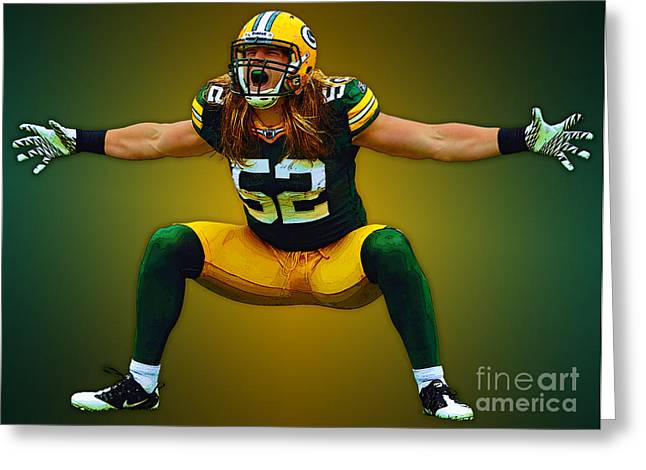 Clay Matthews Greeting Card