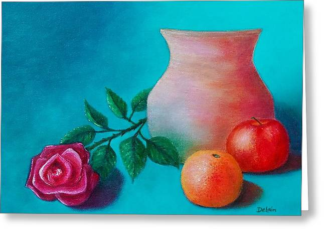 Clay Pot Still Life Greeting Card by Susan DeLain