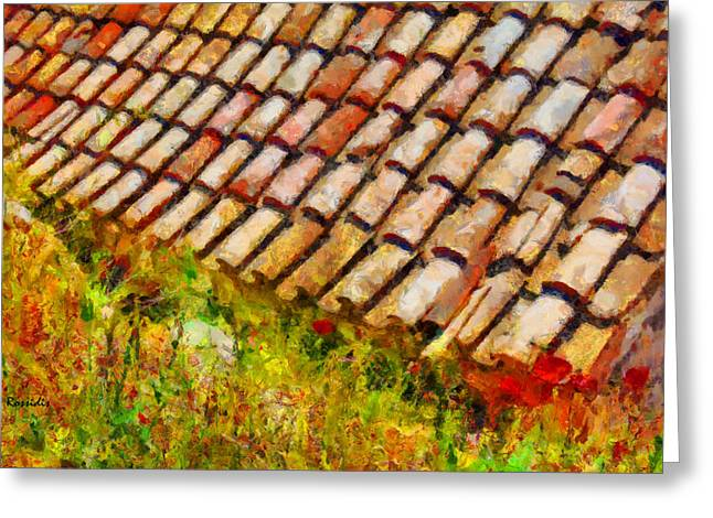 Clay Tiles Greeting Card by George Rossidis