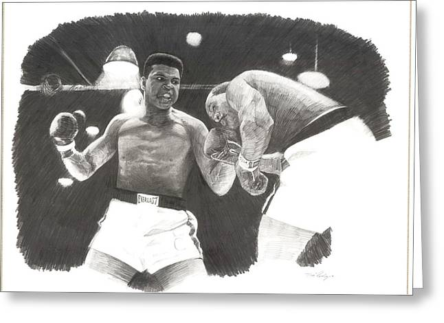 Clay Vs Liston 1 Greeting Card