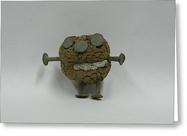 Clayman Greeting Card by Ron Hayes