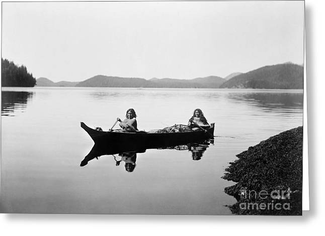 Clayoquot Canoe, C1910 Greeting Card by Granger