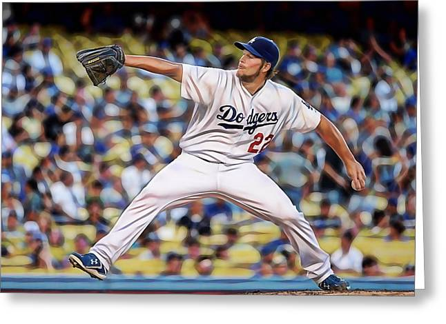 Clayton Kershaw Baseball Greeting Card