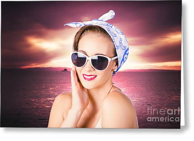 Clean Face Woman With Natural All-day Makeup Greeting Card by Jorgo Photography - Wall Art Gallery