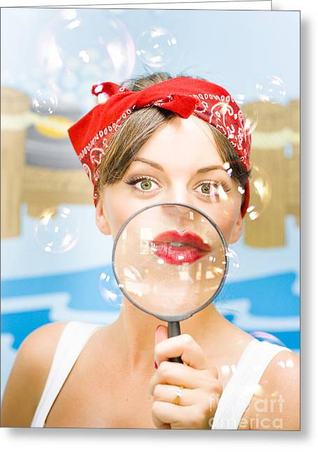 Clean House Inspector Greeting Card