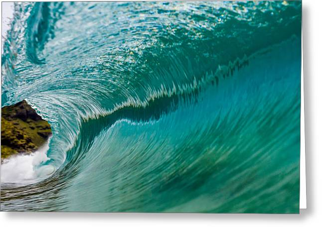 Clean And Glassy Wave 1 Greeting Card by Chris and Wally Rivera