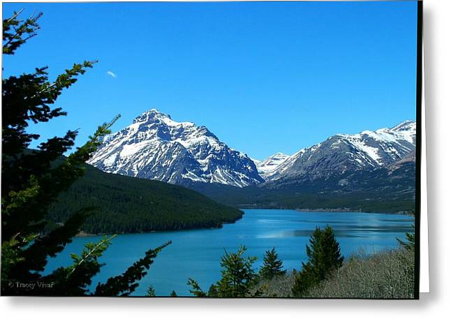 Clear Blue Lower Two Med Lake Greeting Card