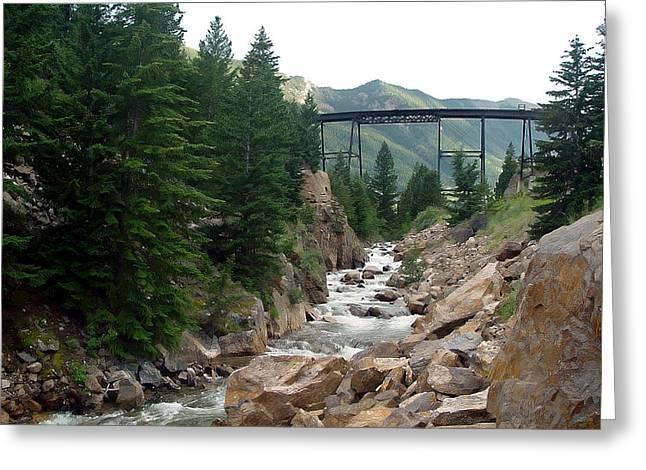 Clear Creek Colorado Greeting Card