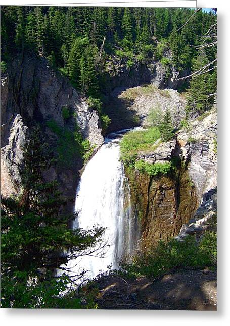 Greeting Card featuring the photograph Clear Creek Falls by Charles Robinson