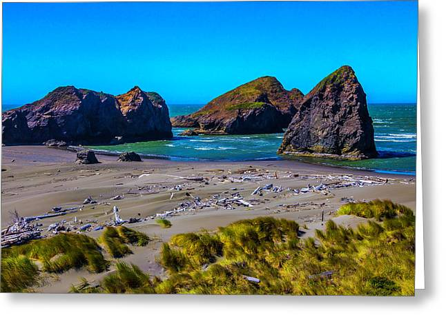 Clear Day At Meyers Beach Greeting Card