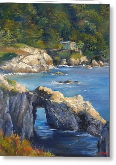 Clear Day At Point Lobos Greeting Card by Norah Brown