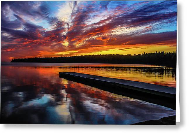 Clear Lake At Sunset. Riding Mountain National Park, Manitoba, Canada. Greeting Card