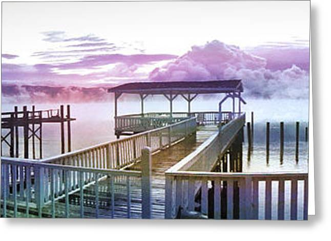 Clouds On Clear Lake Greeting Card