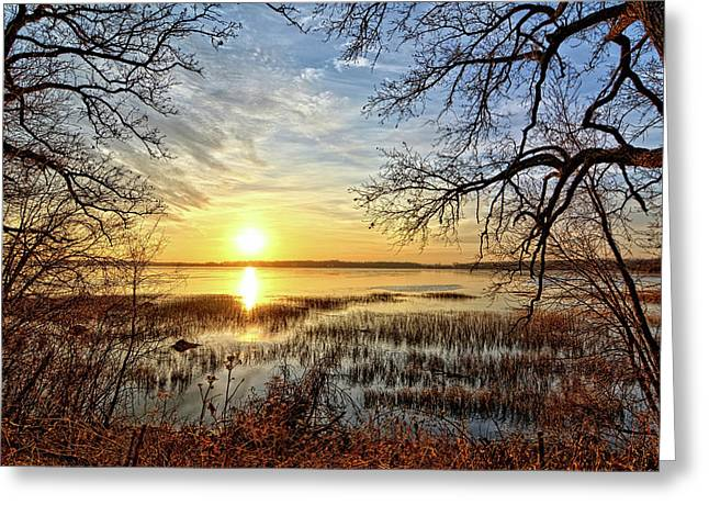 Clear Lake Sunrise 3 Greeting Card