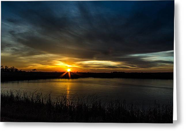 Clear Lake Sunset Greeting Card