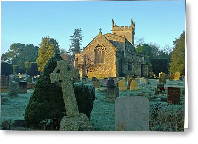 Clear Light In The Graveyard Greeting Card