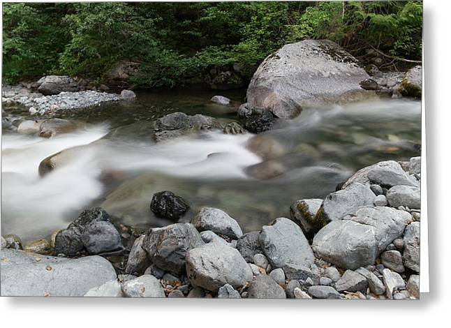 Clear Rapids Greeting Card by Jeff Swan