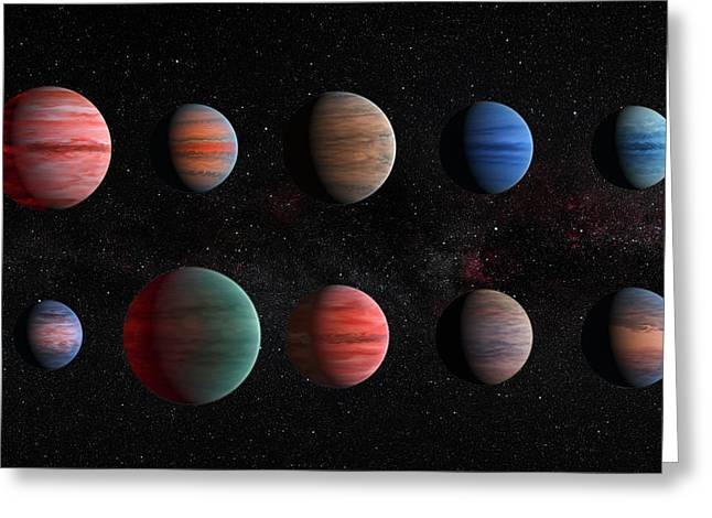 Clear To Cloudy Hot Jupiters Greeting Card