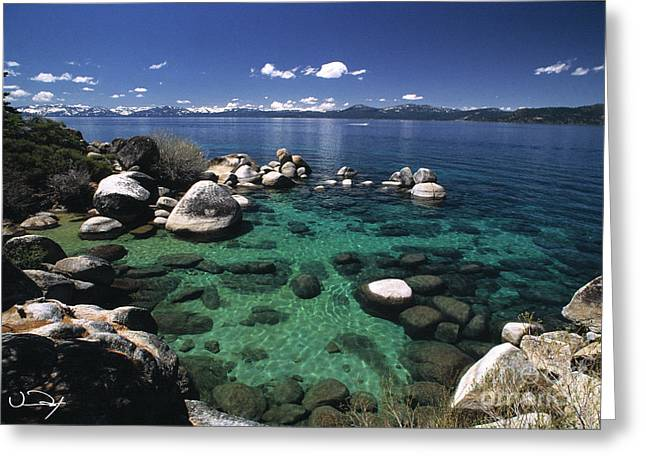 Clear Water Lake Tahoe Greeting Card by Vance Fox
