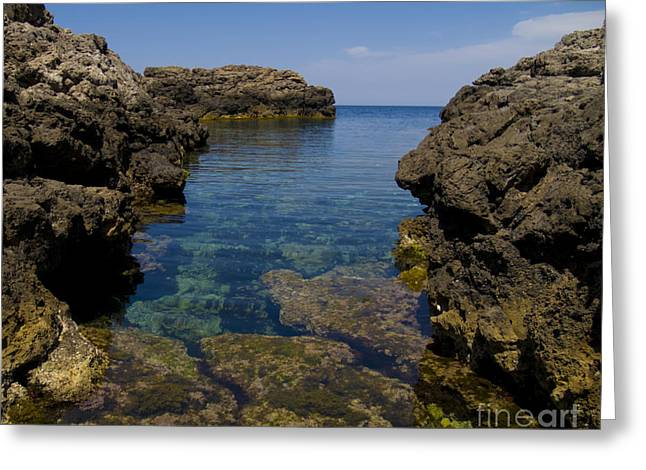 Clear Water Of Mallorca Greeting Card by Anastasy Yarmolovich