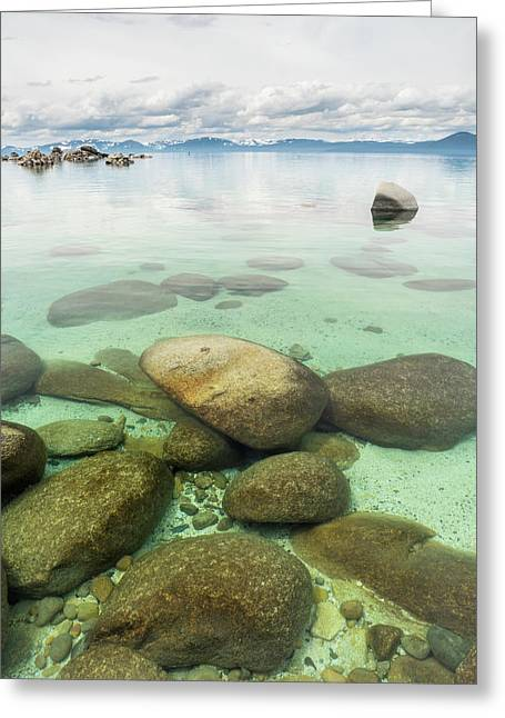 Clear Water, Stormy Sky Greeting Card