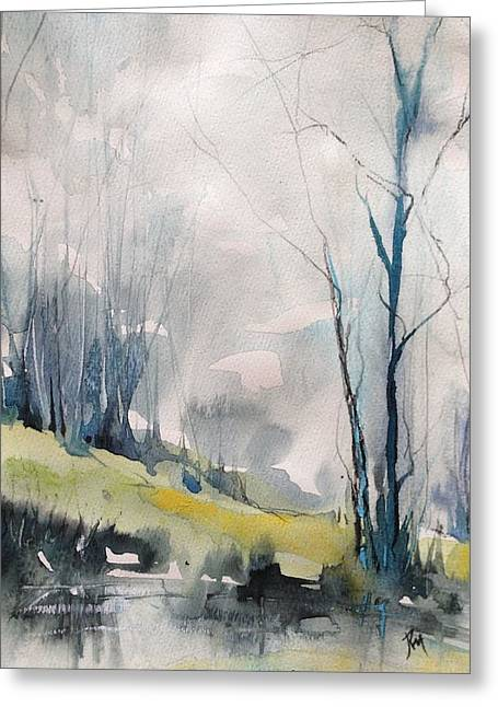 Clearing By The Riverbank Greeting Card