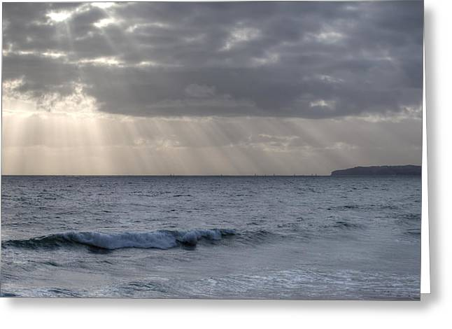Clearing Skies Over Pacific Ocean Greeting Card
