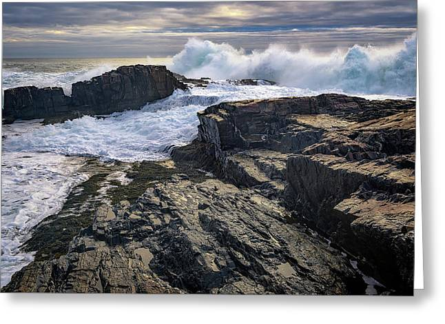 Clearing Storm At Bald Head Cliff Greeting Card by Rick Berk