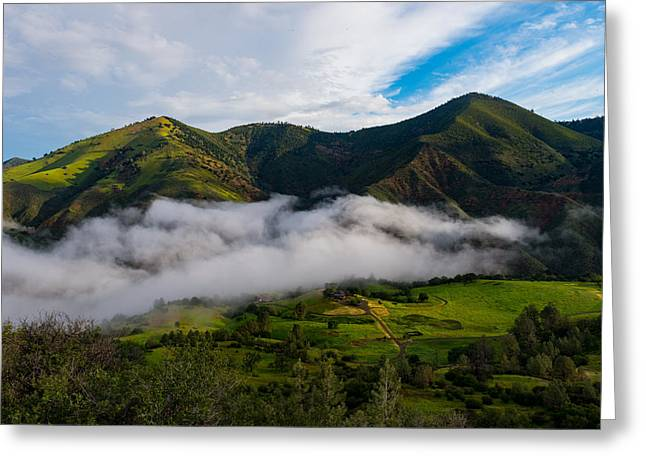 Clearing Storm, Figueroa Mountain Greeting Card