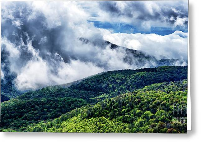 Greeting Card featuring the photograph Clearing Storm Highland Scenic Highway by Thomas R Fletcher