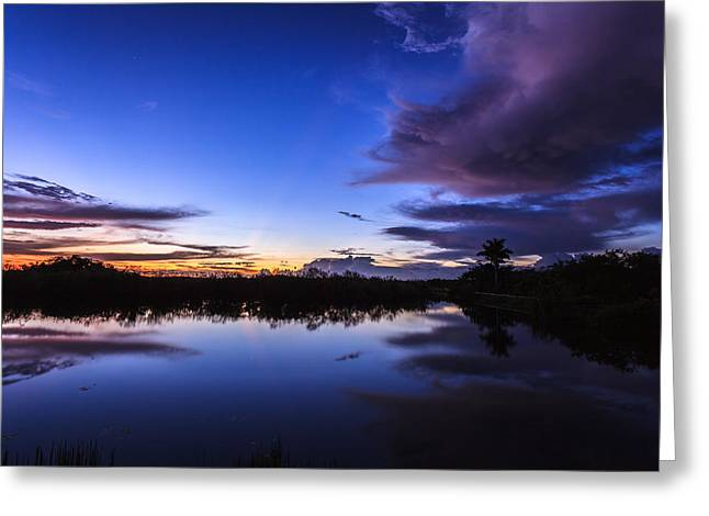 Clearing Storm Over The Anhinga Trail Greeting Card by Jonathan Gewirtz
