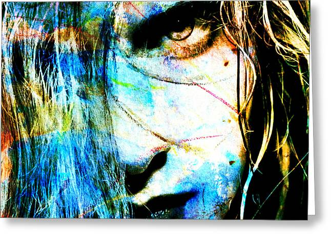 Clearing...abstract New Mixed Media Portrait By Rich Ray Art Greeting Card by Rich Ray Art