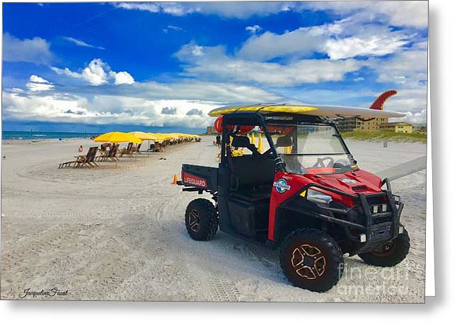 Clearwater Beach Lifeguard Atv Greeting Card