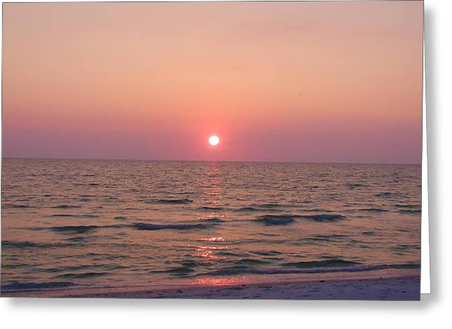 Clearwater Sunset Greeting Card by Bill Cannon