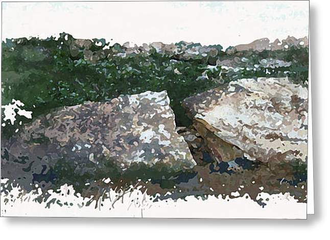 Cleft Rock Greeting Card by Ronald Rosenberg