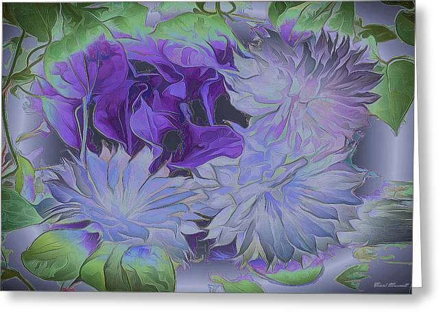 Clematis Greeting Card by Frank Maxwell