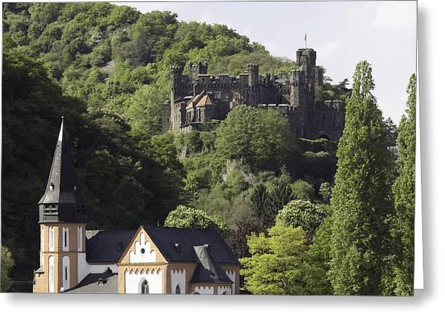Clemenskapelle And Burg Reichenstein Greeting Card by Teresa Mucha