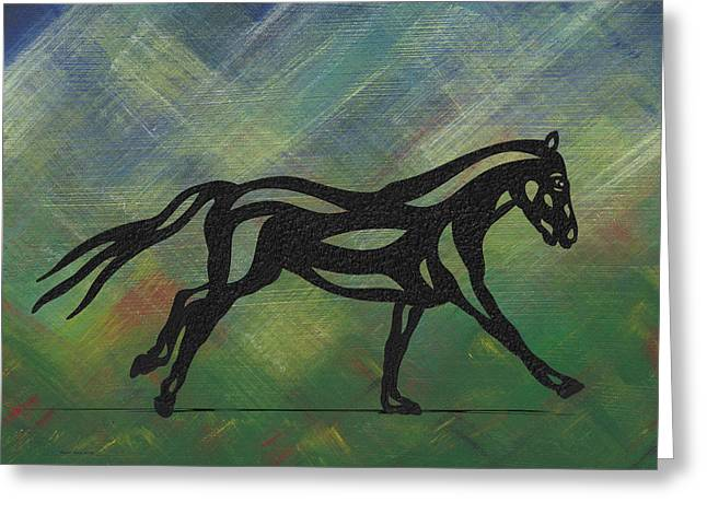 Clementine - Abstract Horse Greeting Card